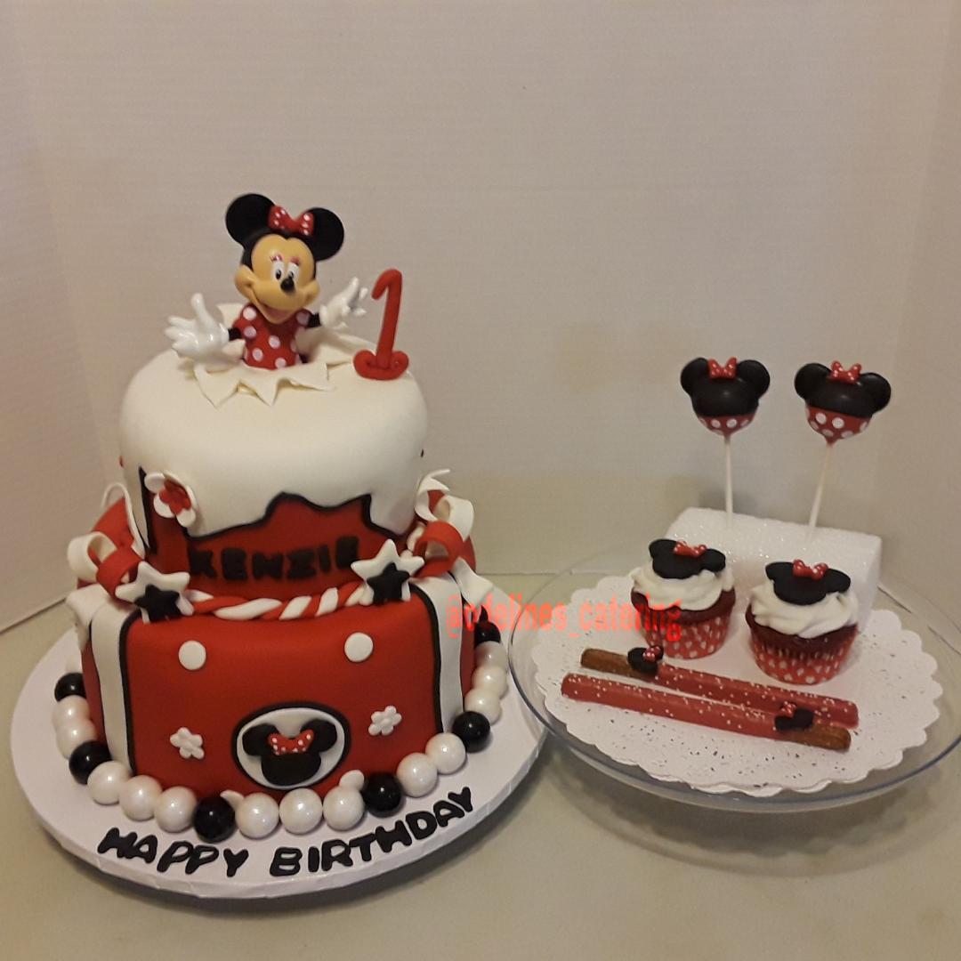 Minni Inspired Birthday Cake